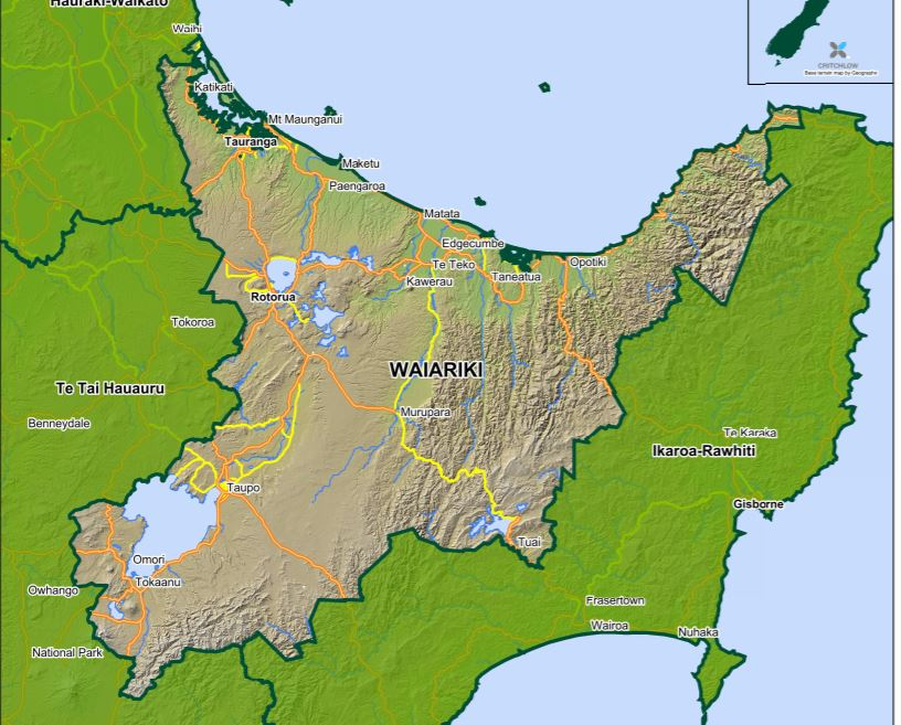 Image result for Waiariki on map