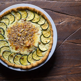 Zucchini Ricotta Quiche with Crumbled Walnuts