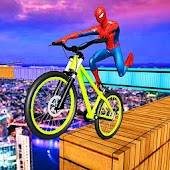 Superheroes Bike Parkour-Impossible Streets of Sky