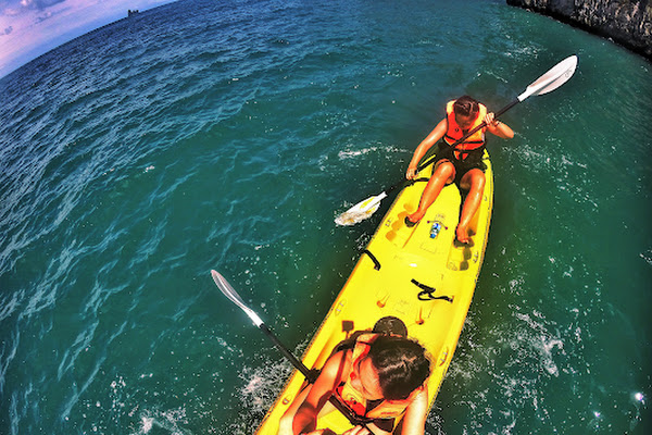 Paddle in open water of the Hong Archipelago