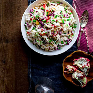 Easy Holiday Slaw with Apples and Pomegranate Recipe