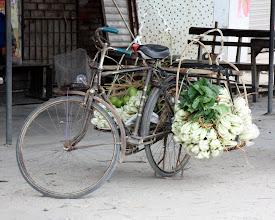 Photo: Day 210 - Bike & Veg  (China)