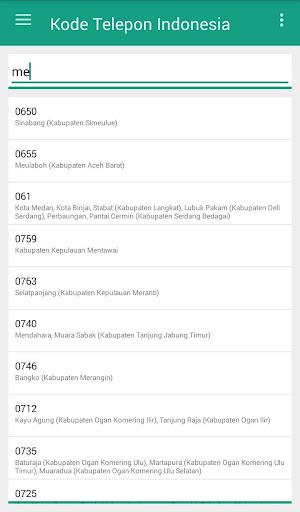 Screenshot 3 Kode Telepon Indonesia