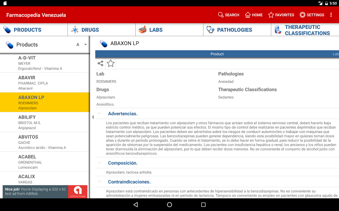 Farmacopedia Venezuela- screenshot