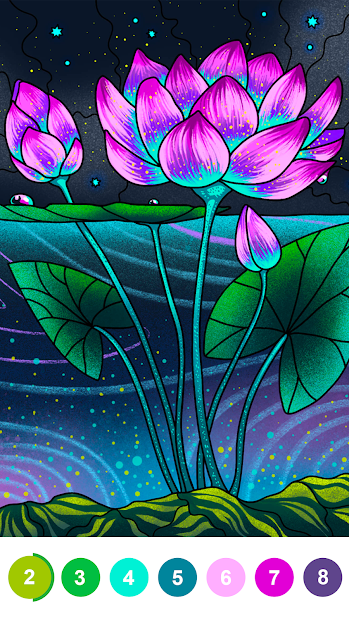 Paint By Number - Free Coloring Book & Puzzle Game Android App Screenshot
