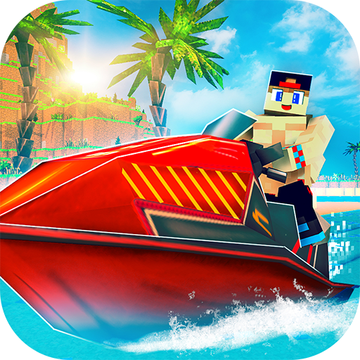 Jet Ski Craft: Crafting, Stunts & Jetski Games 3D