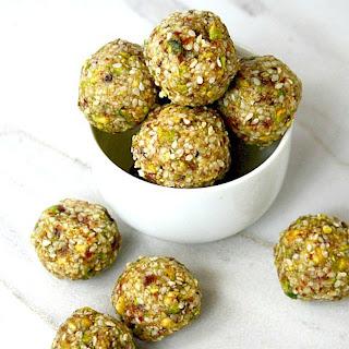 Pistachio Sesame Seed Balls.