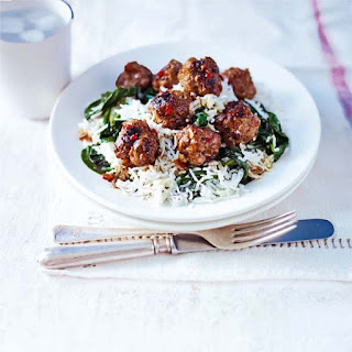 Spinach Meatballs Rice Recipes