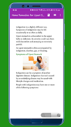 Home Remedies for Upset Stomach App Report on Mobile Action - App