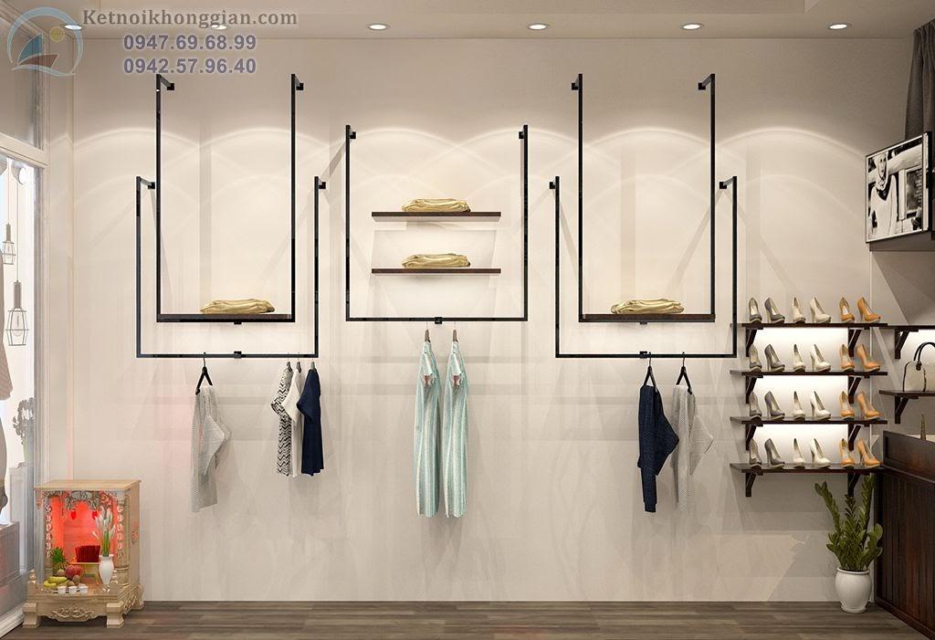 thiết kế cửa hàng thời trang kết hợp xưa nay