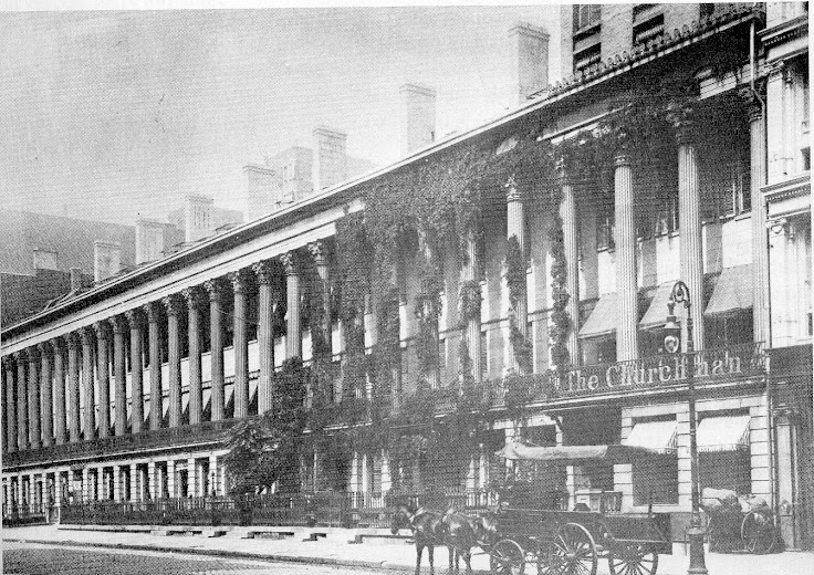 Photo of Colonnade Row in its 19th century heyday.