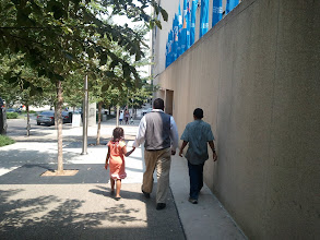 Photo: Walking to the museum
