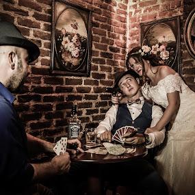 Mafia by Jo Polyxromos - Wedding Bride & Groom ( wedding, greece, bride, groom )