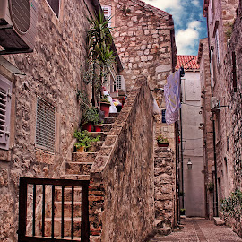Dubrovnik Old Town Street by Branko Meic-Sidic - City,  Street & Park  Street Scenes ( croatia, beautiful, hdr, colourfull, dubrovnik, meicsidic )