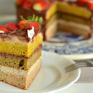 Cashew Ricotta Chocolate Sponge Cake [Vegan, Gluten-Free]