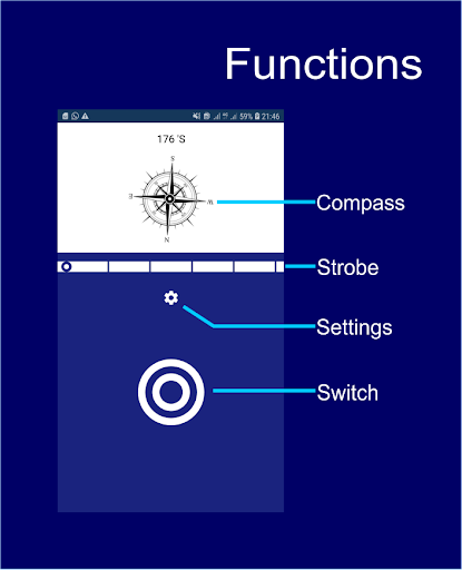 Screenshot for Flashlight Compass (Premium) in Hong Kong Play Store