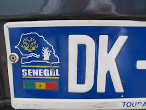 Photo: Sn5Ins0090-160207 logos Sénégal Dakar, sur plaque immatriculation voiture IMG_0921