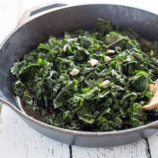 Braised Garlic Kale.