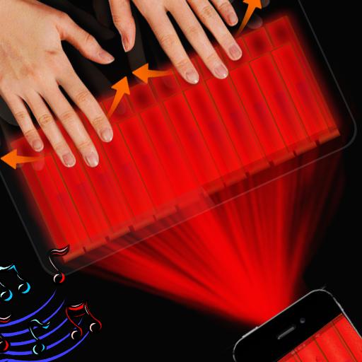 假全息图钢琴投影机 娛樂 App LOGO-APP開箱王