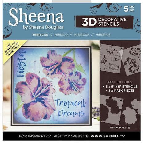 Sheena Douglass 3D Stencils - Hibiscus UTGÅENDE