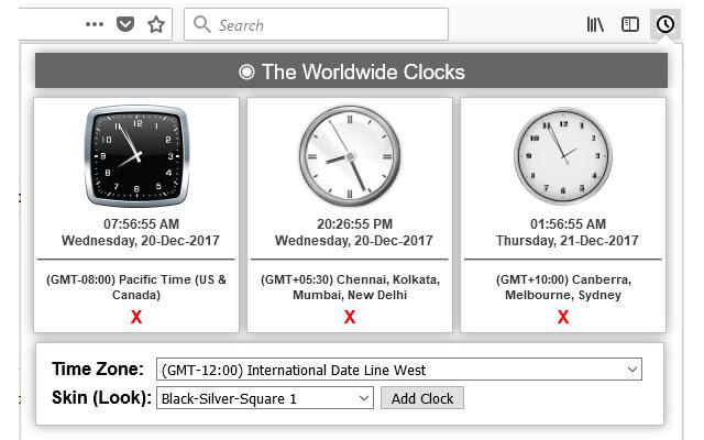 The Worldwide Clocks
