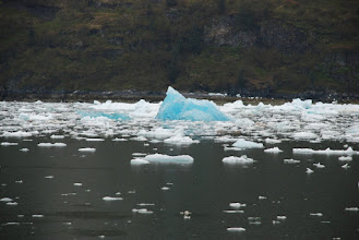 Photo: Floating blue ice