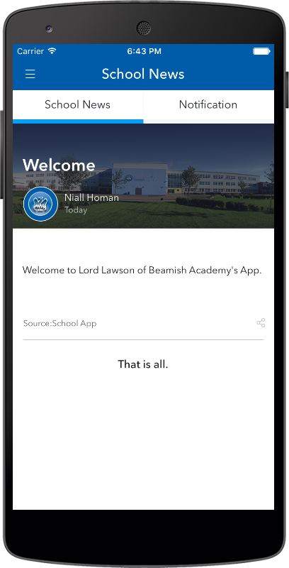 Lord Lawson of Beamish Academy- screenshot