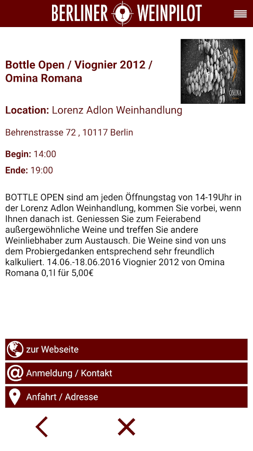 Berliner Weinpilot- screenshot