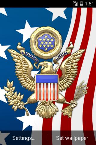3D USA Coat of Arms & Flag LWP  screenshots 3