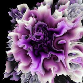 Purple Dazed by Dawn Morri Loudermilk - Illustration Abstract & Patterns
