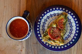 Photo: Tarta i zupa ze swojskich pomidorów -od rodziców z Bieszczad :)