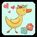Cute Duck stickers for WhatsApp WAStickerApps icon