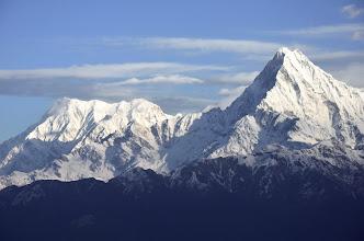 Photo: L'Annapurna Sud et le Machhapuchhre depuis Chomro Dharmasala