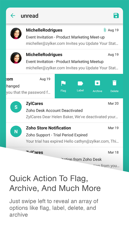Inbox Insight for Zoho Mail- screenshot