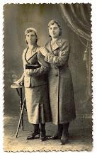 Photo: Salytės Petronėlė ir Joana ~ 1930 m. (Foto.K.Berkovočius. Plungė) Nuotrauka iš Juozo Šakinio asmeninio archyvo.