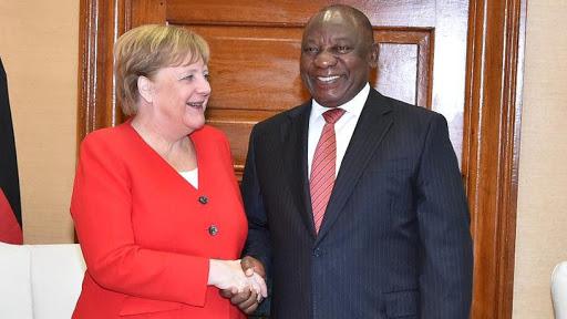 German chancellor Angela Merkel and president Cyril Ramaphosa. (Source: SA Gov News)