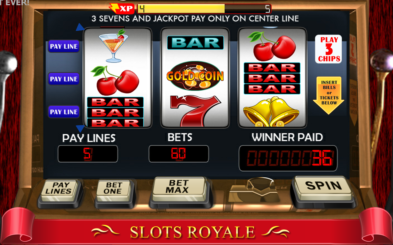 slot machine on