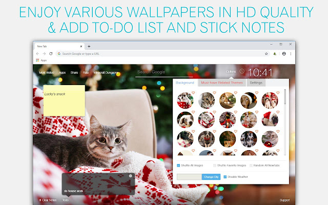 Christmas Puppies Kittens Wallpapers Newtab