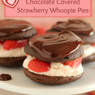 Chocolate Covered Strawberry Whoopie Pies