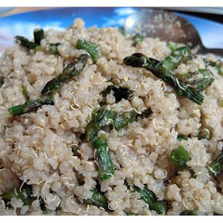 Quinoa With Shallots and Asparagus