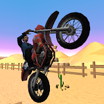 Desert Dirt Bike Trial Icon