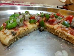 Photo: vegan pizza