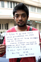 Photo: 4.13.13 Blank Noise #SafeCityPledge, India