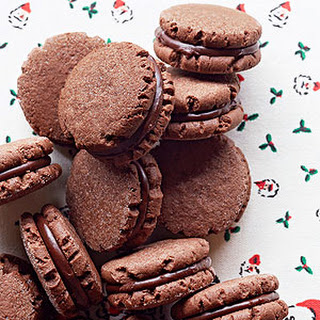Minty Cocoa Fudge Sandwich Cookies.