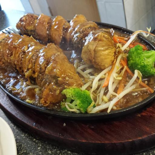 Veggie Fish on Iron Plate