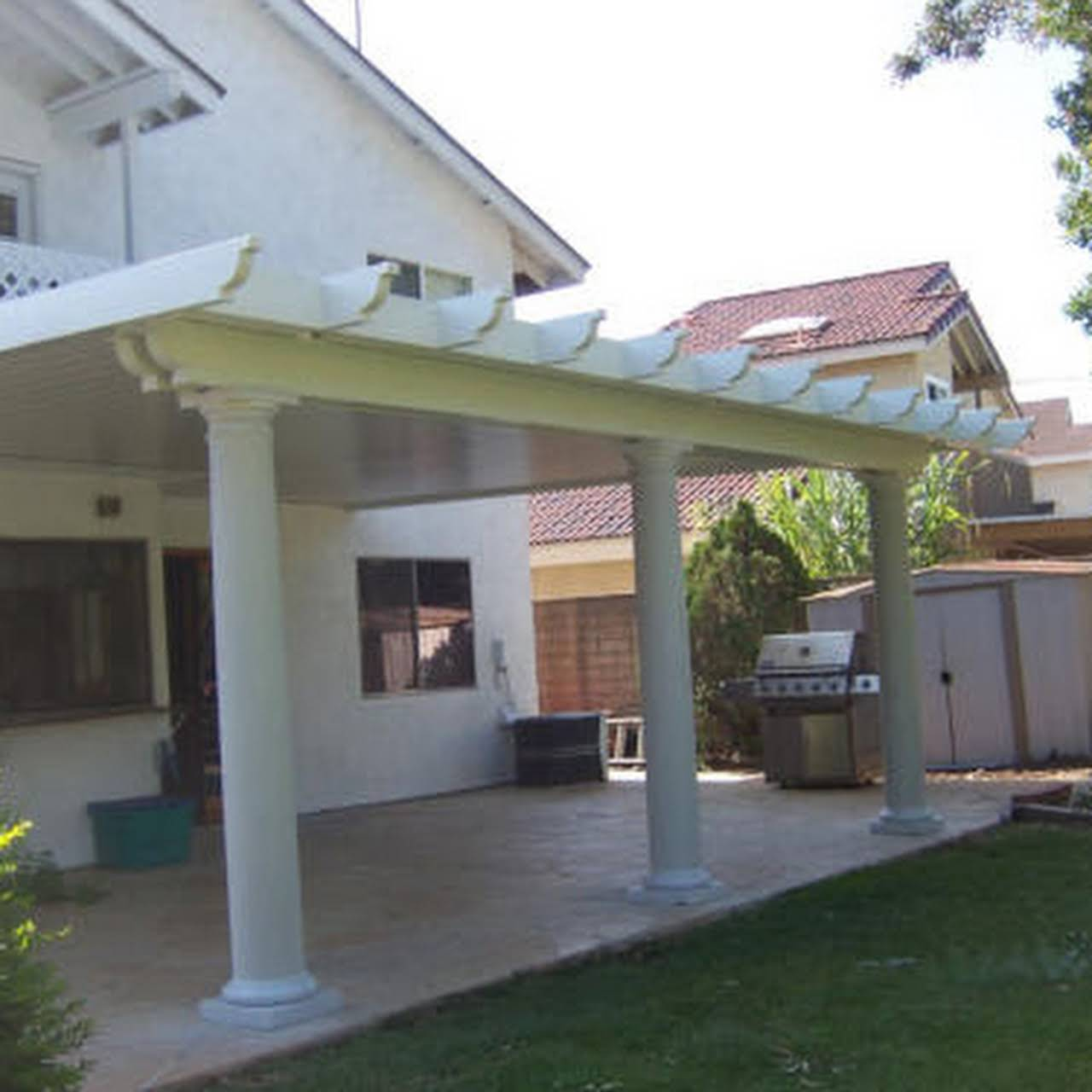 Payless Patio Aluminum Patio Covers Looks Like Wood Awning