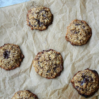 Flourless Dark Chocolate Espresso Oatmeal Cookies