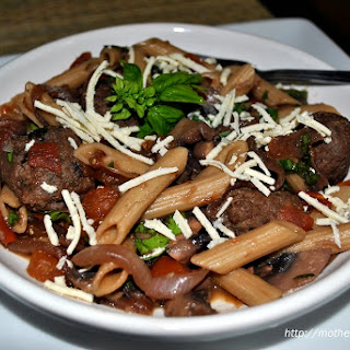 Savory Chicken Meatballs with Penne Pasta