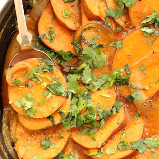 Coconut Curry Scalloped Sweet Potatoes Recipe