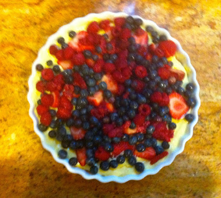 Fresh Berry Pudding Tart Recipe